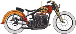 Motorbike embroidery design