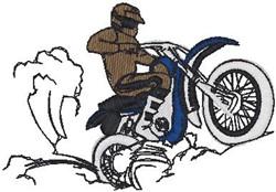 Dirt Biker Rider embroidery design