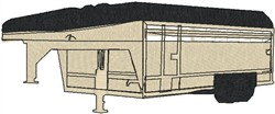 Camper Trailer embroidery design