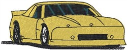 Yellow Racer embroidery design