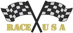 Race USA embroidery design
