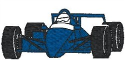 Indy Racer embroidery design