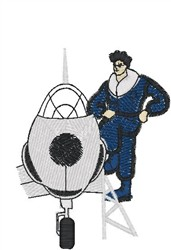 Fighter Pilot embroidery design