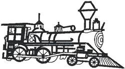 Locomotive embroidery design