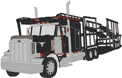 Car Trailer embroidery design