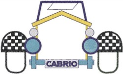 Cabrio Front embroidery design