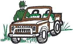 Jeep Guy embroidery design
