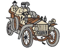 Antique Car14 embroidery design