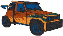 Off Road Truck embroidery design