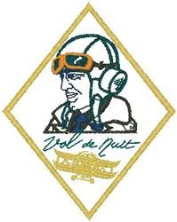 Pilot Badge embroidery design