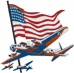 American Bomber embroidery design