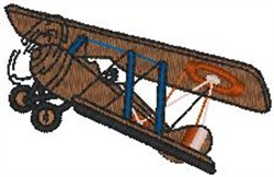Biplane Side embroidery design