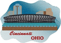 Cincinnati Ohio embroidery design