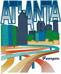 Atlanta Georgia embroidery design