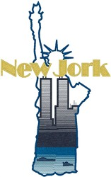 New York City embroidery design