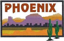 Phoenix Landscape embroidery design