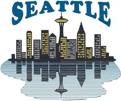 Seattle Skyline embroidery design