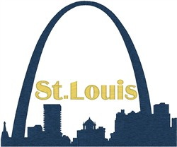 St Louis Arch embroidery design