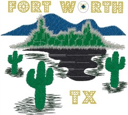 Fort Worth TX embroidery design