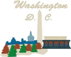 Washington DC embroidery design