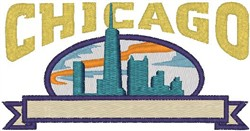 Chicago Skyline embroidery design