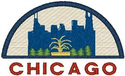 Chicago Scene embroidery design