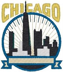 Chicago Illinois embroidery design