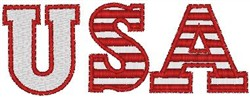 USA Text embroidery design