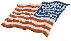 Waving US Flag embroidery design