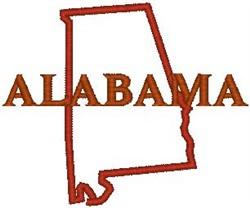 Alabama Labeled embroidery design