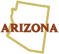 Arizona Labeled embroidery design