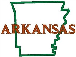 Arkansas Labeled embroidery design