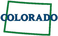 Colorado Labeled embroidery design