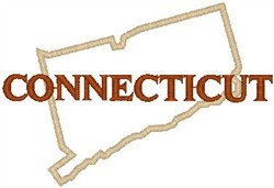 Connecticut Labeled embroidery design