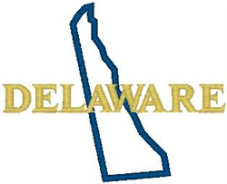 Delaware Labeled embroidery design