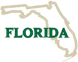 Florida Labeled embroidery design