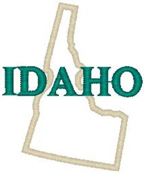 Idaho Labeled embroidery design