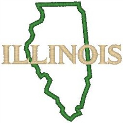 Illinois Labeled embroidery design