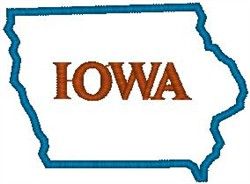 Iowa Labeled embroidery design