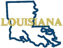 Louisiana Labeled embroidery design