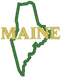 Maine Labeled embroidery design