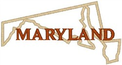 Maryland Labeled embroidery design