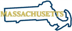 Massachusetts Labeled embroidery design