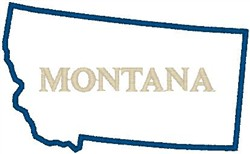 Montana Labeled embroidery design