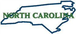North Carolina Labeled embroidery design