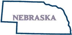 Nebraska Labeled embroidery design
