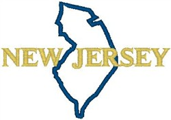 New Jersey Labeled embroidery design