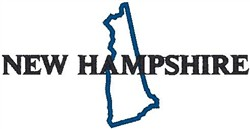 New Hampshire Labeled embroidery design