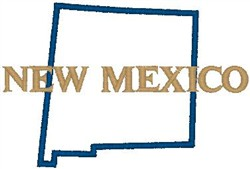 New Mexico Labeled embroidery design