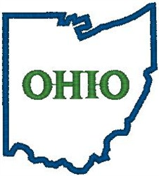 Ohio Labeled embroidery design
